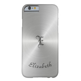 Circular Polished Metal Texture, Personalized Barely There iPhone 6 Case