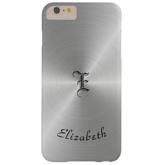 Circular Polished Metal Texture, Personalized Barely There iPhone 6 Plus Case
