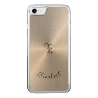 Circular Polished Metal Texture, Personalized Carved iPhone 7 Case