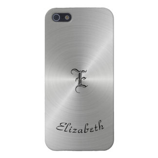 Circular Polished Metal Texture, Personalized Cover For iPhone 5/5S