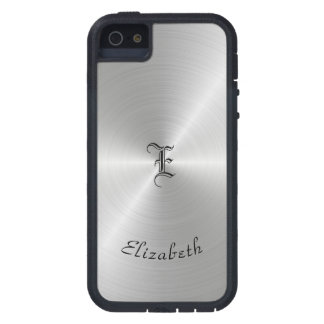 Circular Polished Metal Texture, Personalized iPhone 5 Covers