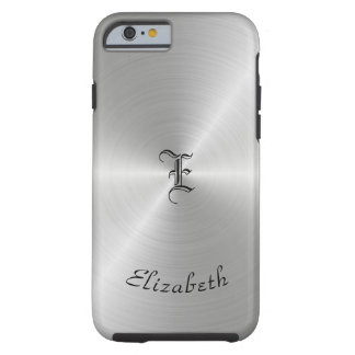 Circular Polished Metal Texture, Personalized Tough iPhone 6 Case