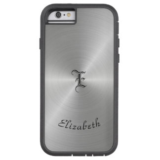 Circular Polished Metal Texture, Personalized Tough Xtreme iPhone 6 Case