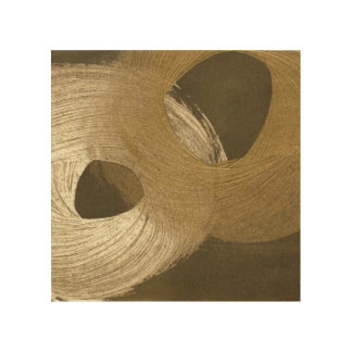 Circular Sandstorm in Tan and Dark Brown Wood Wall Art