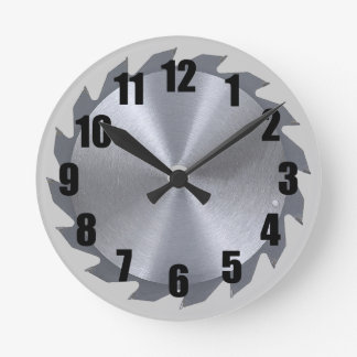 Circular Saw Blade Wall Clock