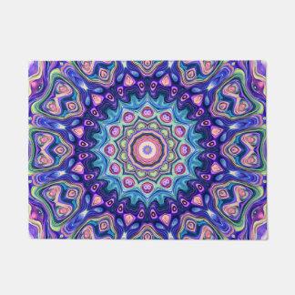 Circular Spectral Kaleidoscope Doormat