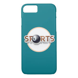 Circular SPORTS Logo with BILLIARD BALL iPhone 7 Case