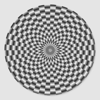 Circular Weave in Monochrome Round Sticker