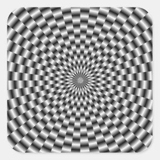 Circular Weave in Monochrome Sticker