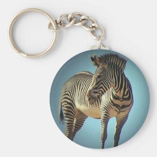 Circular Zebra Keychain