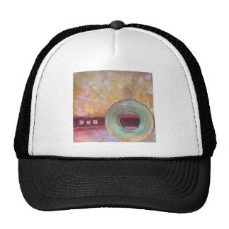 Circumscribe - mixed media cap