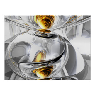 Circumvoluted Abstract Poster