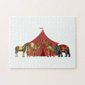 Circus Animals And Tent Puzzles
