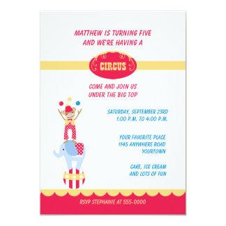 Circus Animals Birthday Invitation