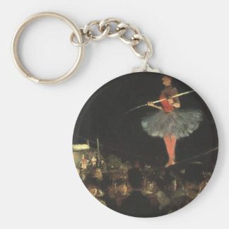 circus art basic round button key ring