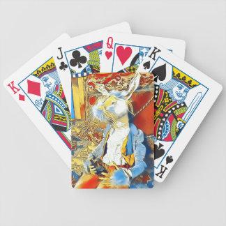 Circus Bunny Bicycle Playing Cards