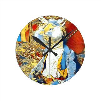 Circus Bunny Round Clock
