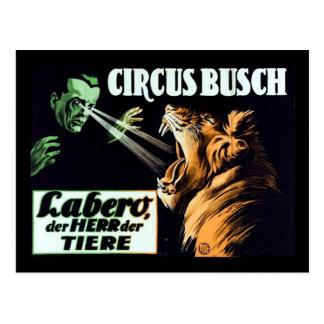 Circus Busch, Labero the Hypnotist Postcard