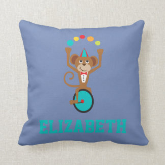 Circus Carnival Animal Juggling Monkey Unicycle Cushion