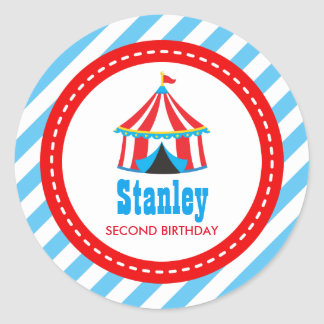 Circus Carnival Birthday Baby Shower Classic Round Sticker