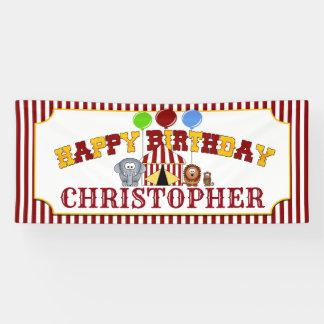 Circus Carnival Birthday Banner