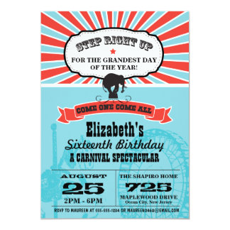 Circus Carnival Birthday Card