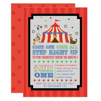 Circus Carnival Fun Birthday Party Invitation