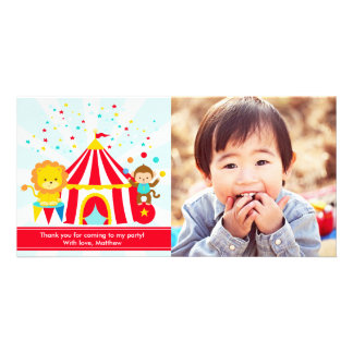 Circus Carnival Personalised Thank You Card