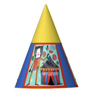 Circus Cat Happy Birthday Party Hats