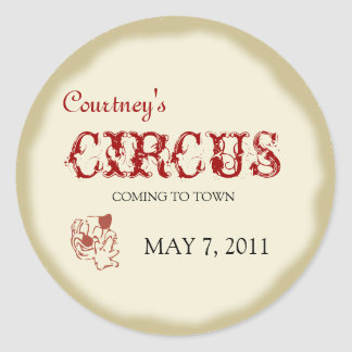 Circus Childrens Birthday Sticker