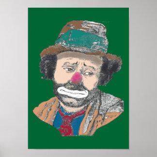 Circus Clown Emmett Kelley Portrait Poster