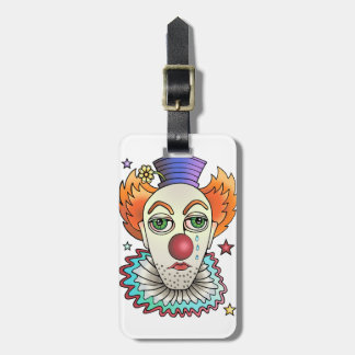 Circus Clown Luggage Tag