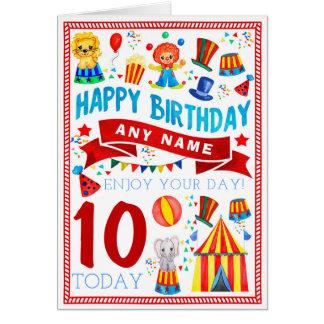 Circus Clown Personalised Birthday Card