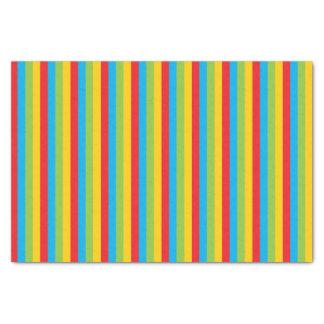 Circus Colored Stripes Tissue Paper