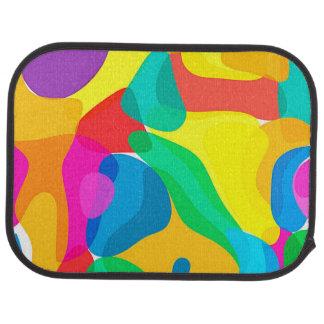 Circus Colors Chaos Abstract Art Pattern Floor Mat