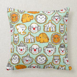 circus cookies throw pillow