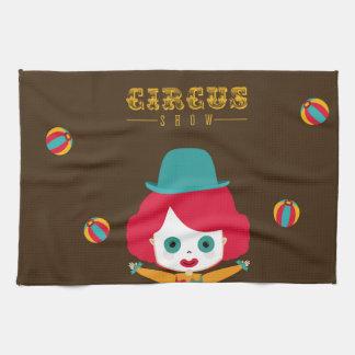 circus design tea towel