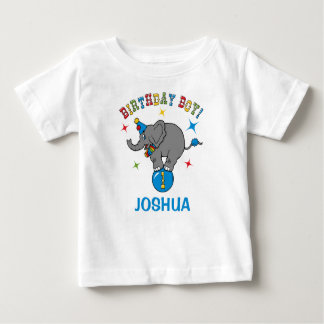 Circus Elephant 1st Birthday Baby T-Shirt