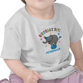 Circus Elephant 1st Birthday Tee Shirt