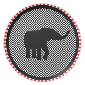 Circus Elephant Decor Dinner Plate
