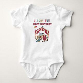 Circus First Birthday Baby Bodysuit