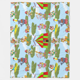 Circus Fleece Blanket
