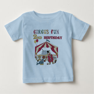 Circus Fun 2nd Birthday Tshirts and Gifts
