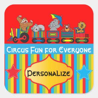 Circus Fun Baby Shower Theme Square Sticker