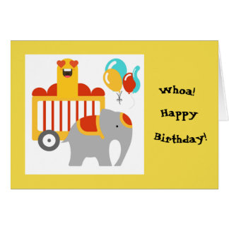 Circus Happy Birthday Greeting Card