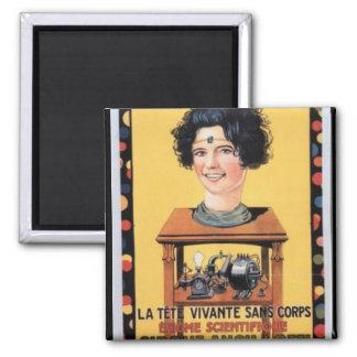 Circus Head Ancilotti Vintage Poster Art Square Magnet