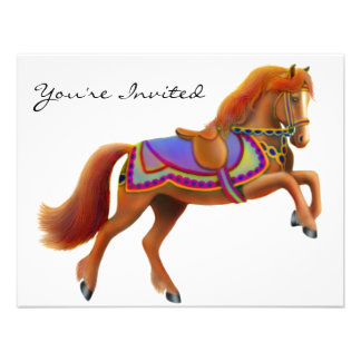Circus Horse Party Invitation