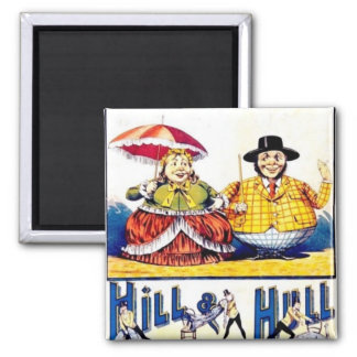 Circus Lecirque Little People Poster Art Square Magnet