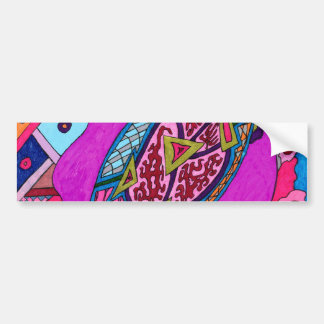 """Circus Lion"" Abstract Bumper Sticker"