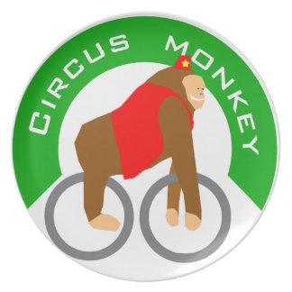 circus monkey plates
